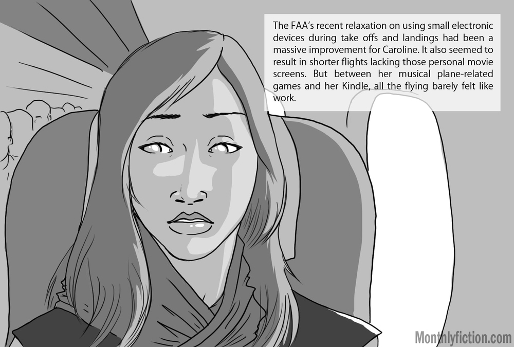 Monthly Fiction Takeoffs and landings page 2 illustration illustraded story deborah burke camilo sandoval