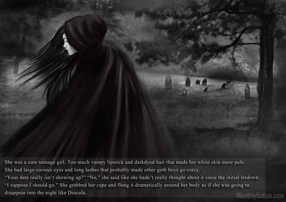 Monthly Fiction Amethyst illustration illustraded story stephanie weber ida softic page 17