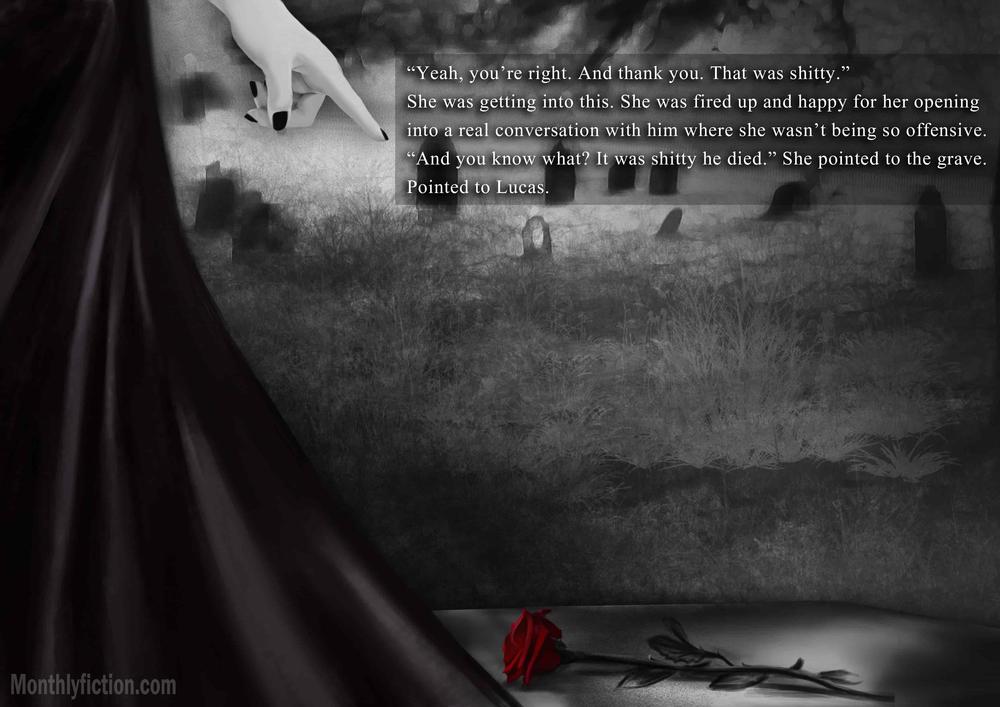 Monthly Fiction Amethyst illustration illustraded story stephanie weber ida softic page 20