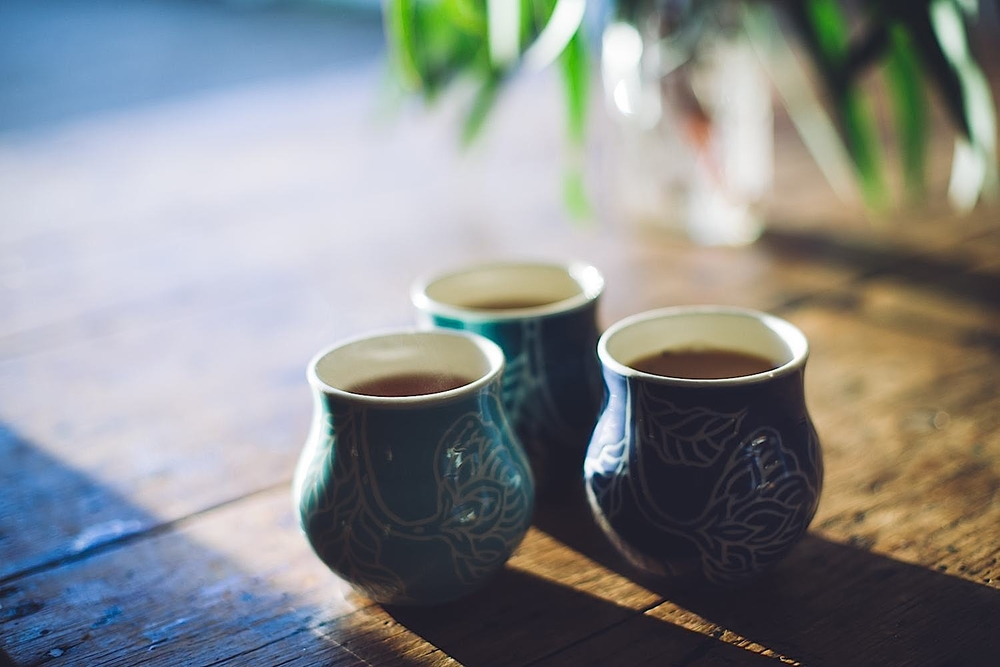 Handmade tea cups by Dariya Gratte Image: Paris Hawken Photography