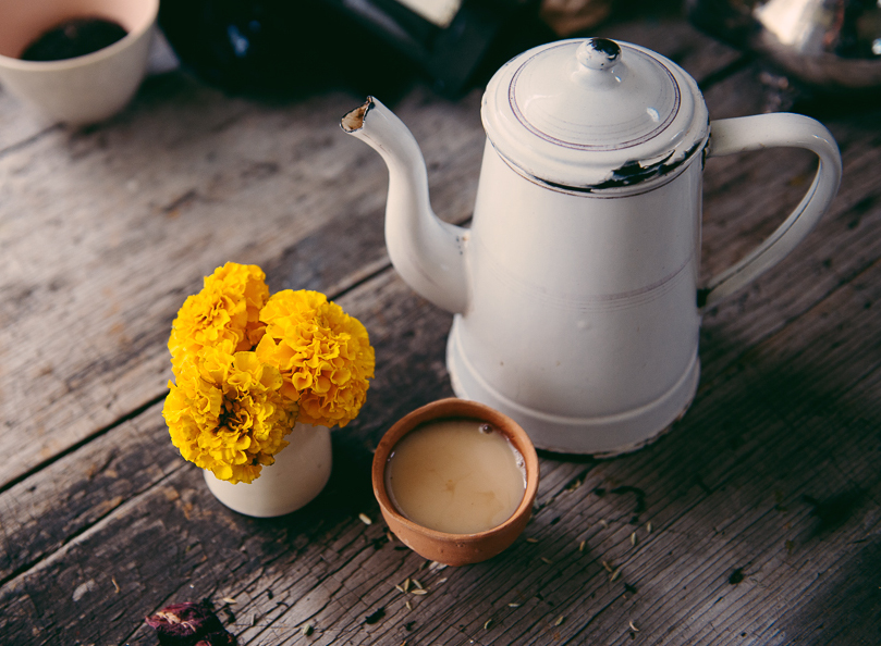 Seven Seas Tea traditional organic Indian Chai. Image by Russell Ord Photography