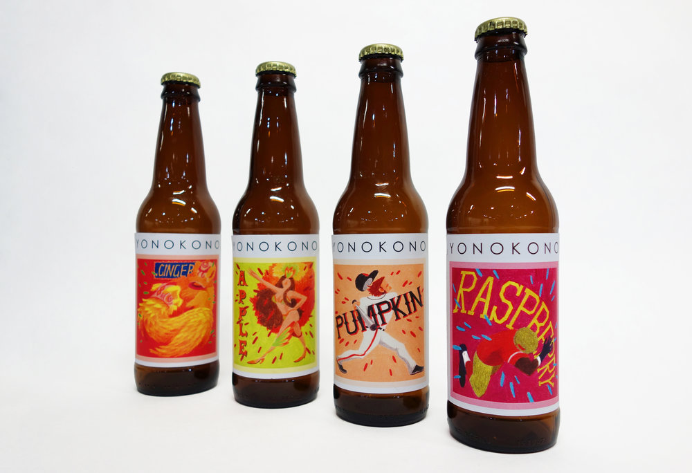 YONOKONO Craft Beer Label Design