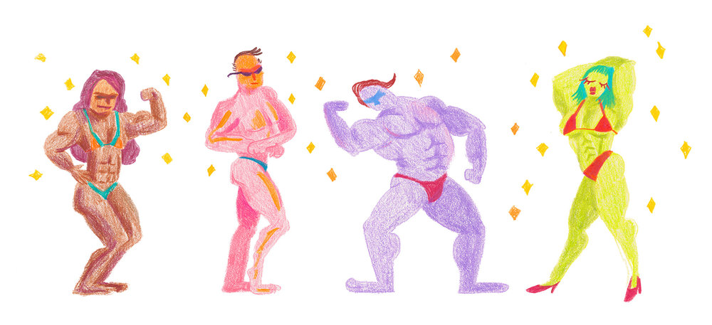 Rocks Drawings body builders
