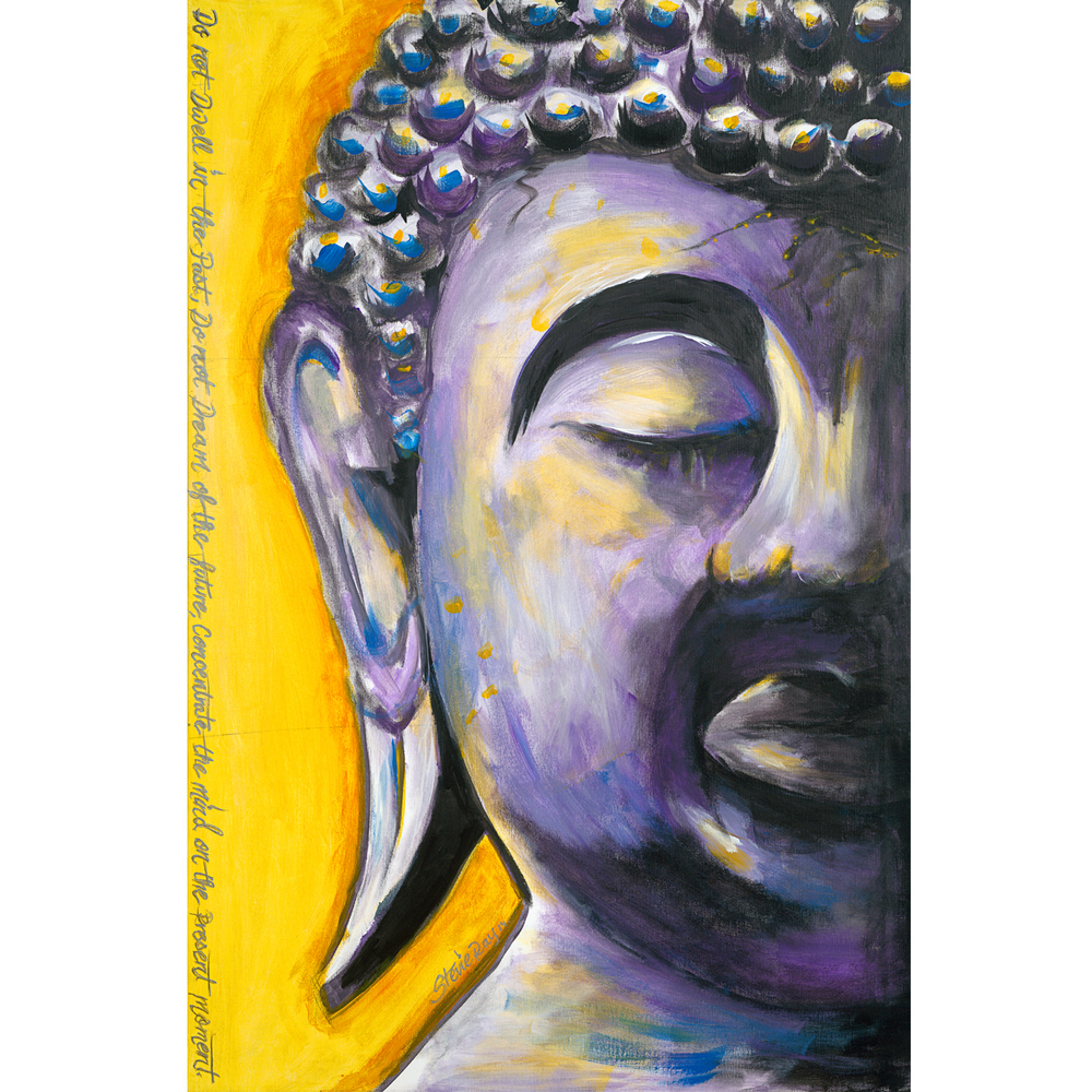 Purple Buddha one of my most recent pieces of art