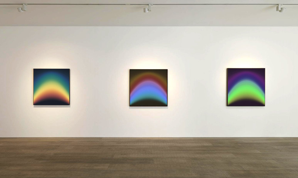 Guy Peppin  Polaris I-III.  Chromogenic acrylic mounted prints, each 760 × 760 mm.