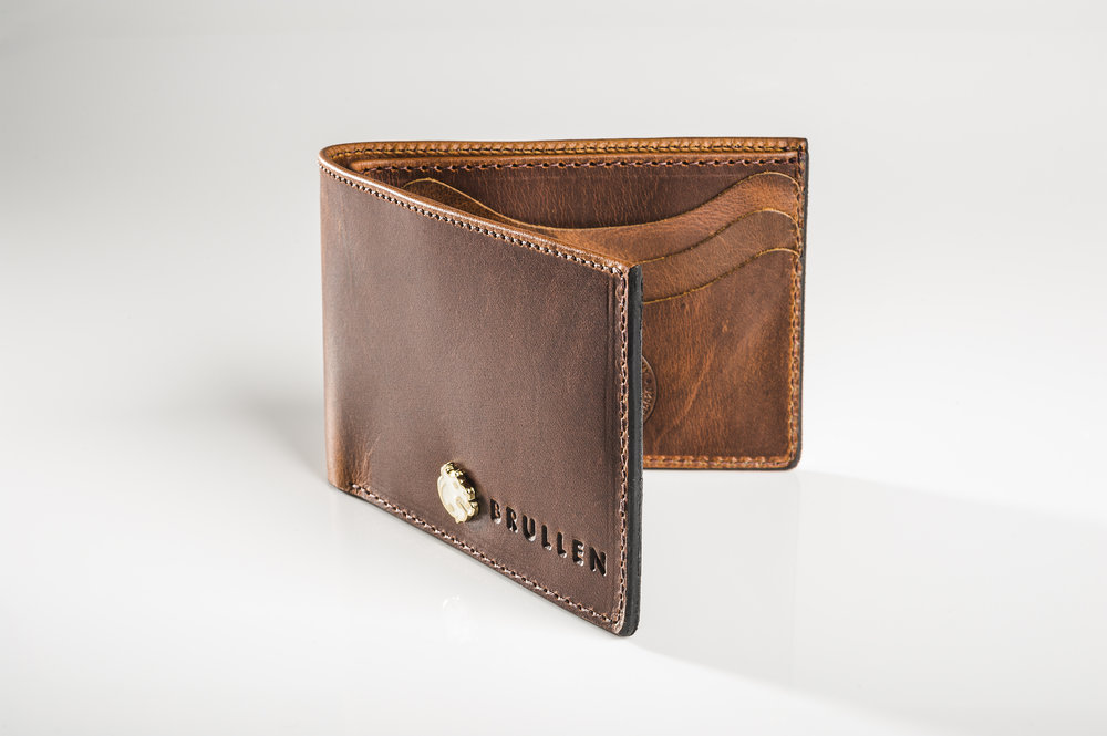 Men's Pull-up Brown BiFold Leather Wallet by Brullen® Co.