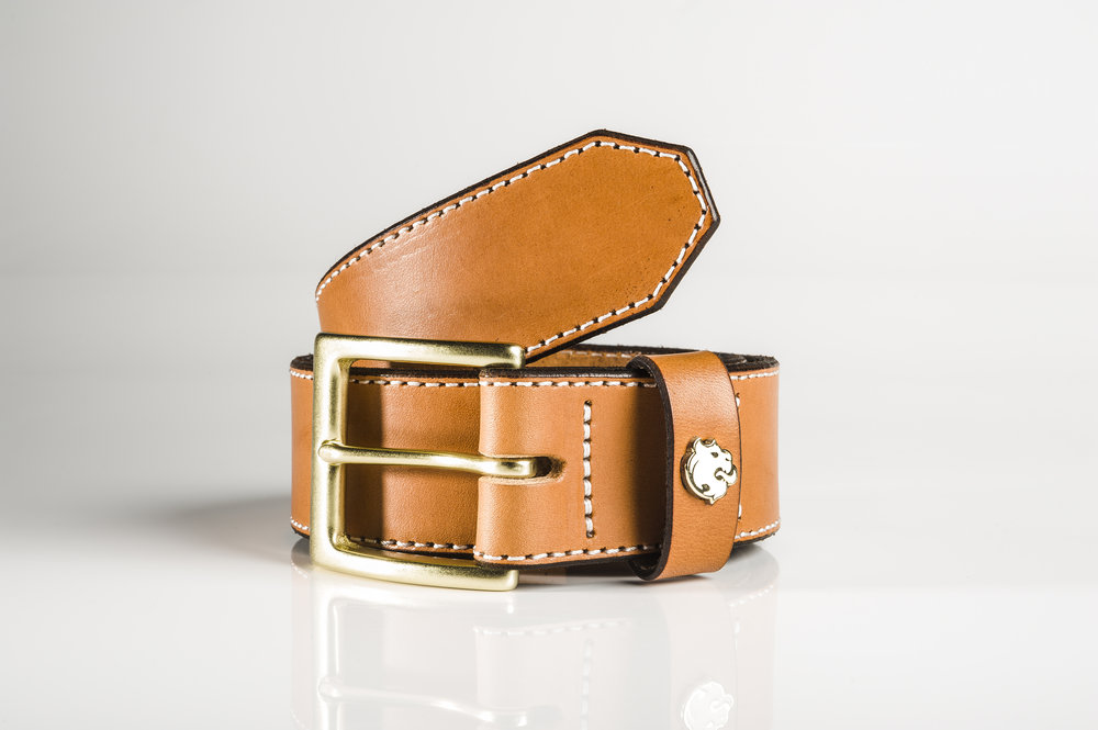"Men's Bridal Leather Tan 1.5"" Belt by Brullen® Co."