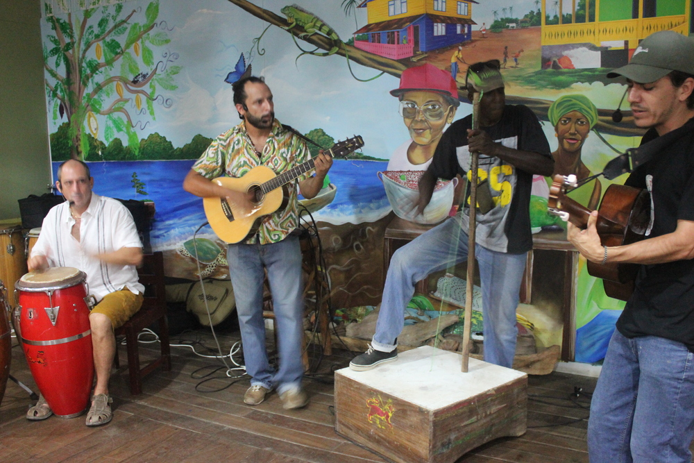 Los Icebreakers perform at the Founders Family Dinner on July , 2015 at the Casa de la Cultura in Puerto Viejo. Photo by Katie Beck.