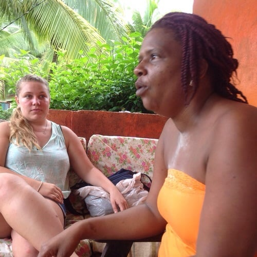 RCP Volunteer Brittany Delbridge interviews Alda Cook Campbell about her family's use of medicinal plants.