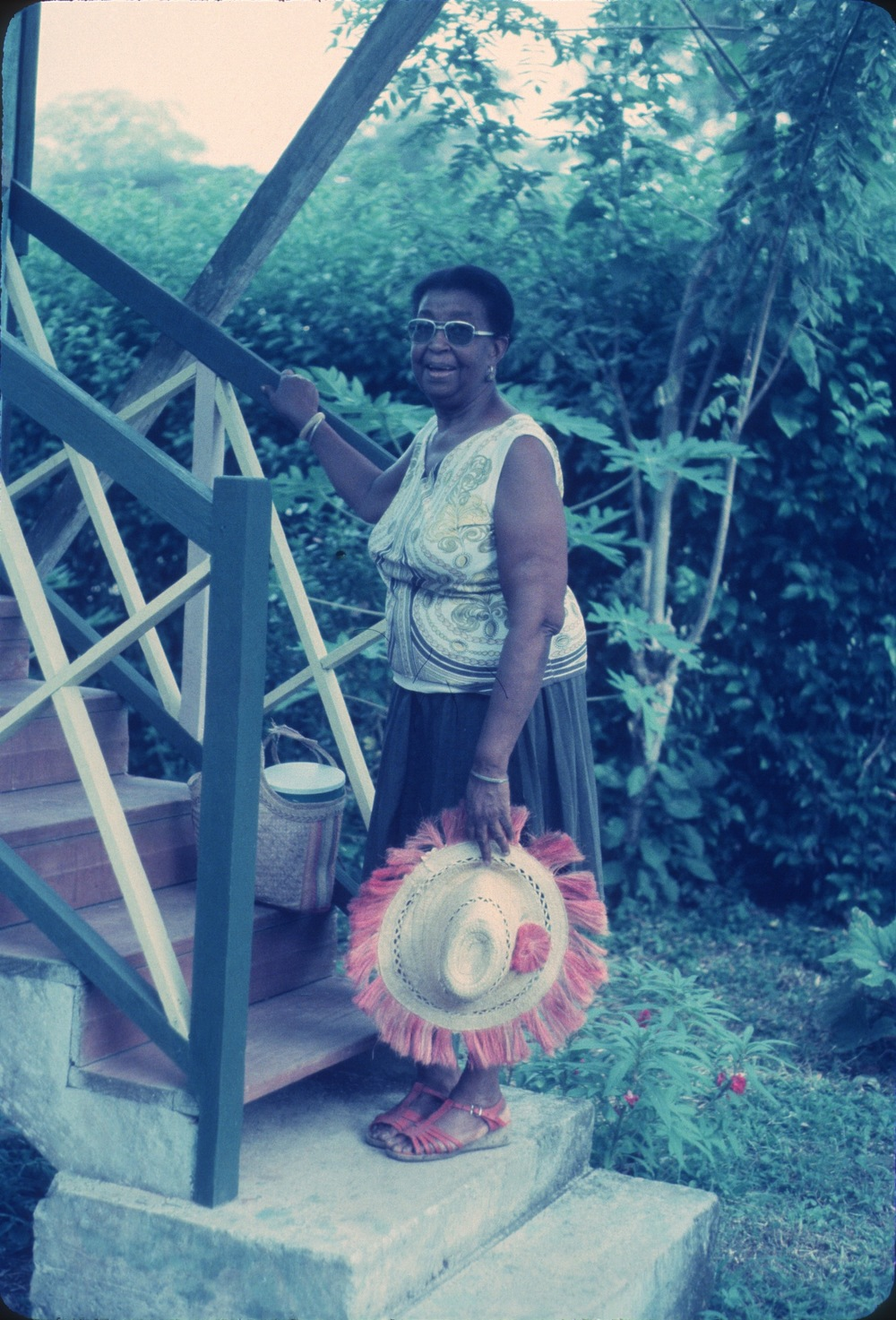 DM_001_008    Miss Ella    Puerto Viejo    5/15/1982    Miss Ella lived in the second house on Black Beach   Photographer: Dan Miller