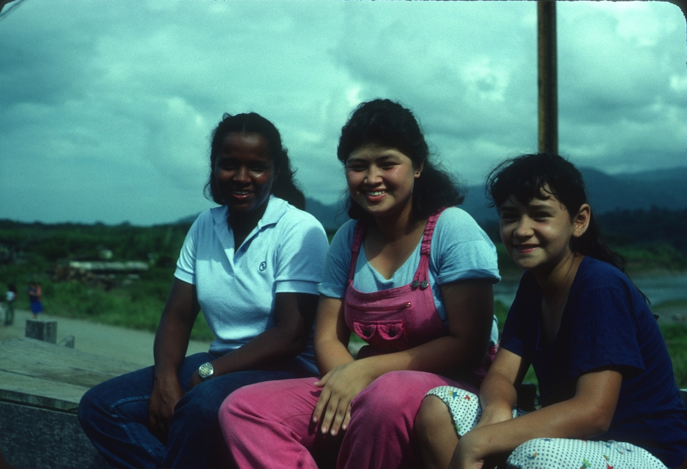 DM_001_014    BriBri Restaurant Workers    BriBri    5/1/1981    These girls worked at the restaurant in BriBri. I took this photo at a bull riding festival in BriBri.   Photographer: Dan Miller