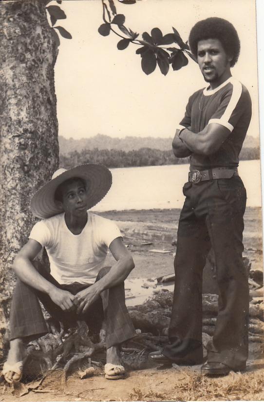 """""""Mi juventud""""   Puerto Viejo   1975   Mi juventud en mi pueblo    Personas: Mauricio Salazar, Alonso Bryant  Colaborador: Mauricio Salazar Salazar  CC_001_009"""