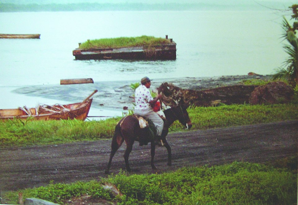 Don Alejandro Volviendo de su Finca en Playa Negra en su mula
