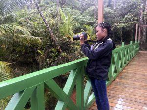 Teaira takes photographs in Manzanillo