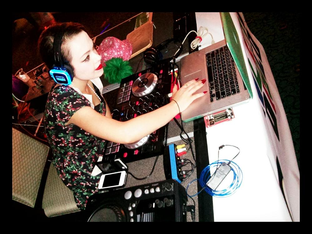 DJ De' Vine pumping out the tunes