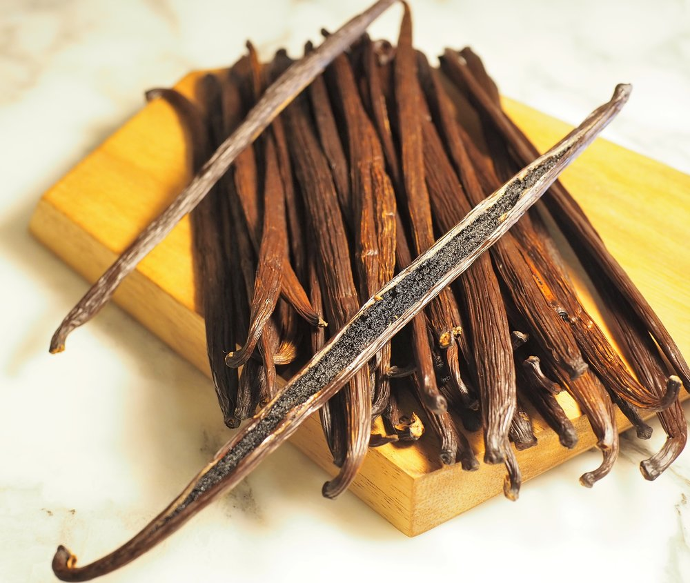 Vanilla - Our supplier has sets up direct relationships with the vanilla farmers by setting up a direct Co-op. Our growers are located in Papa New Guinea, who grow the tahitian variety and Madagascar, who grow the bourbon variety..