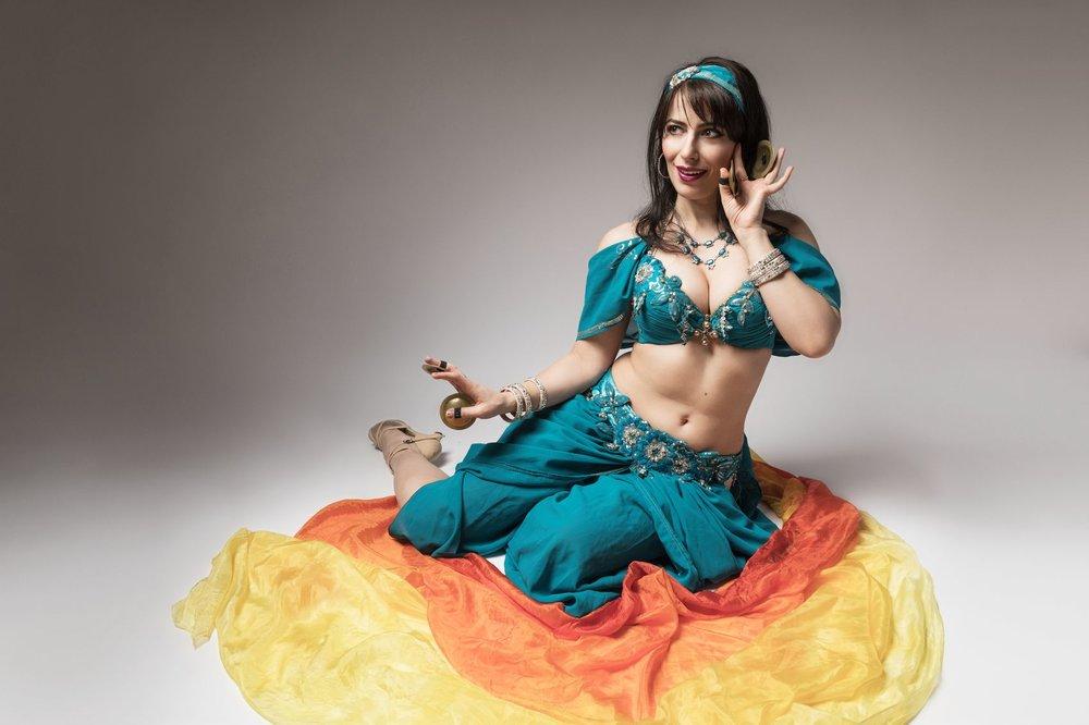 Michelle belly dance Jasmine costume