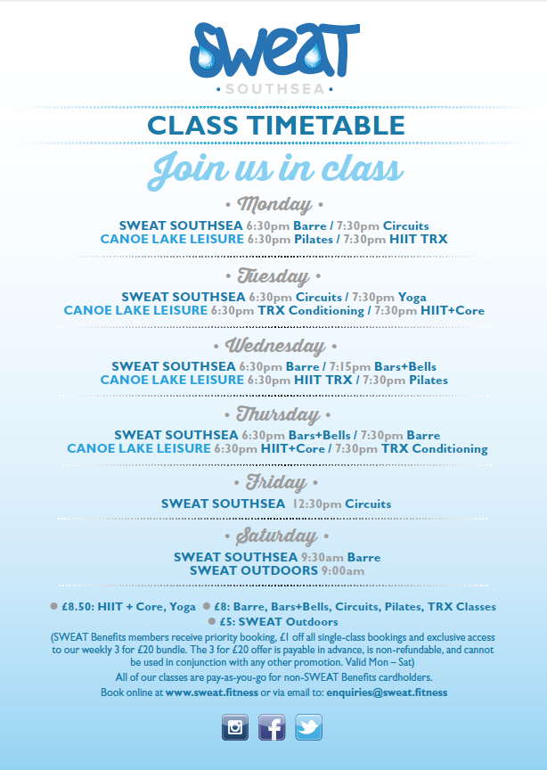Our NEW TIMETABLE is live from Monday October 2nd
