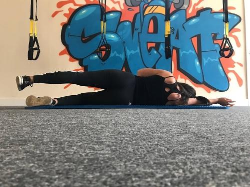 Side-lying leg raise start position