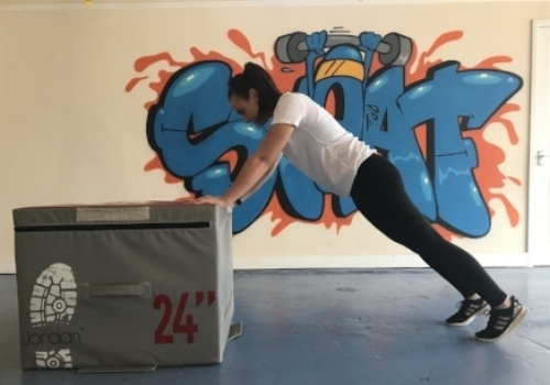 Regression: Hands on a plyo box