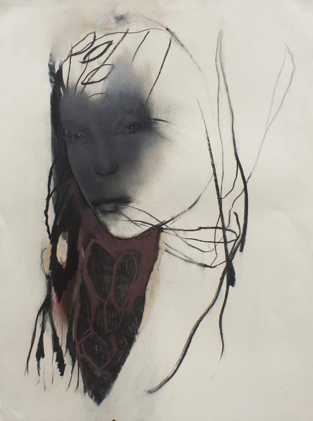 5. Sioux, 56 x 76 cm. Charcoal on paper