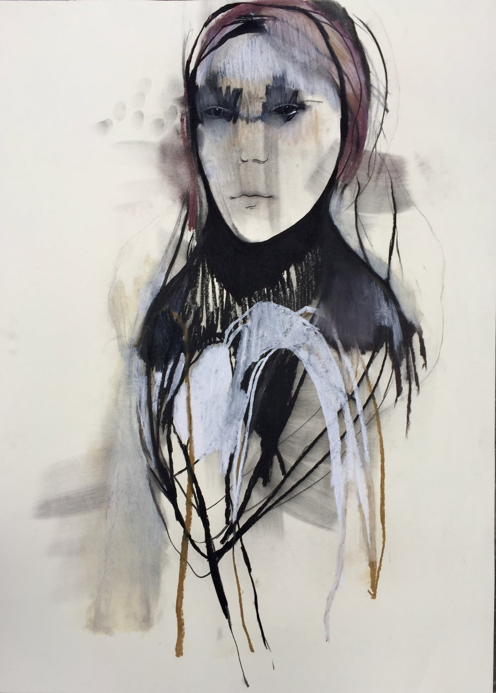 Samer ,146 x 107 cm. Charcoal and pastel on paper, 2018