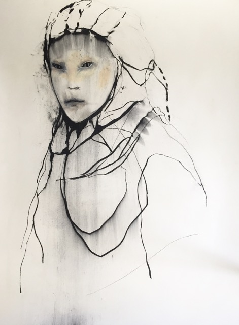 North, 100 x 140 cm. Charcoal and pastel on paper, 2019