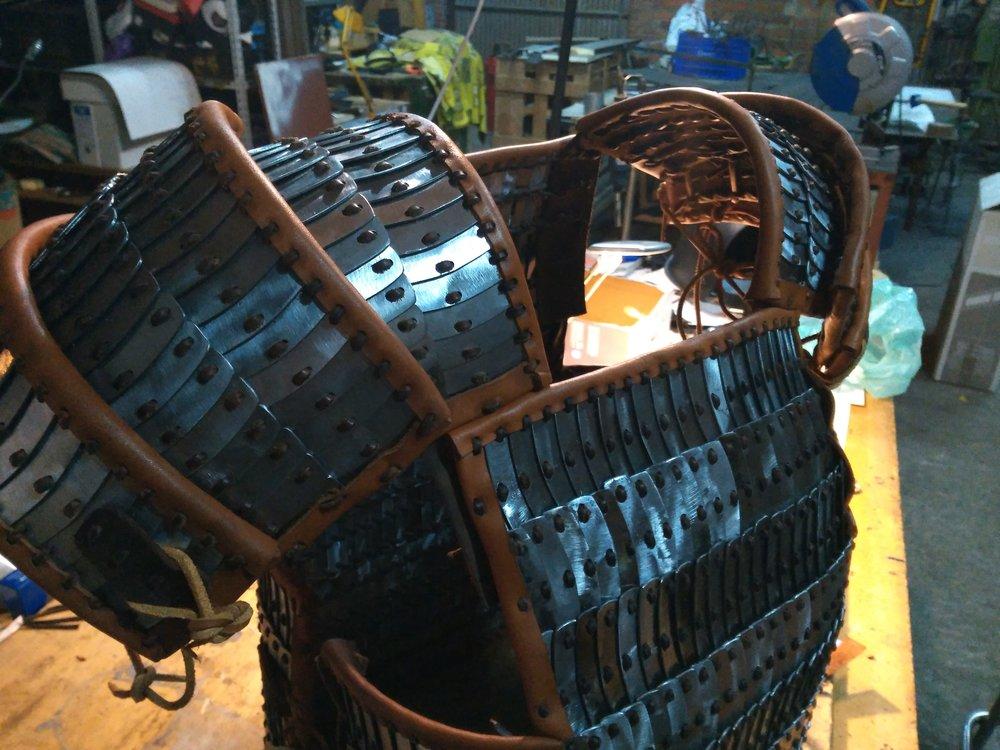 armadura lamelar vikinga -