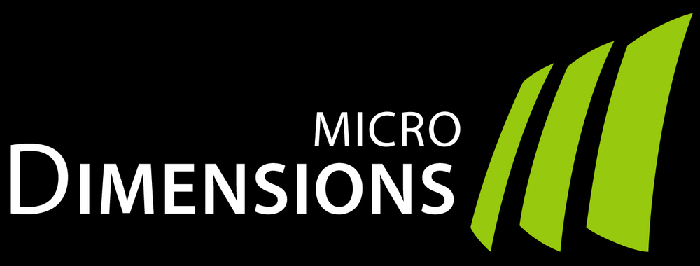 microDimensions logo for dark background