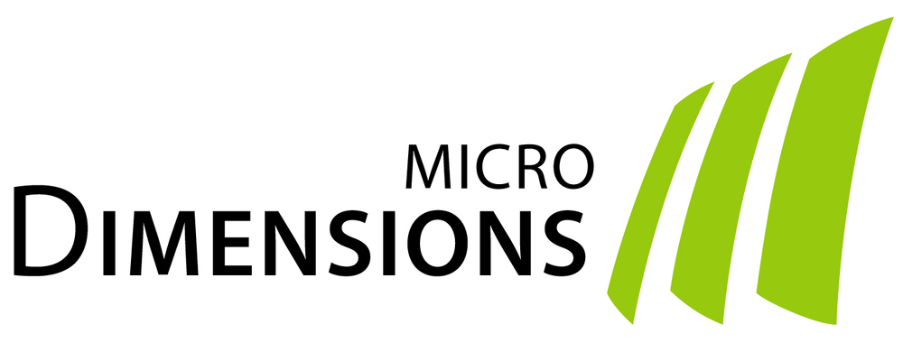 microDimensions logo for bright background