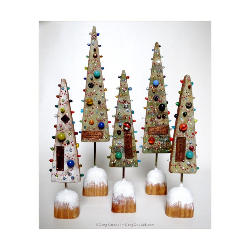 Greg Guedel salvage wood Christmas trees