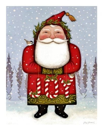 Greg Guedel Joy Santa painting