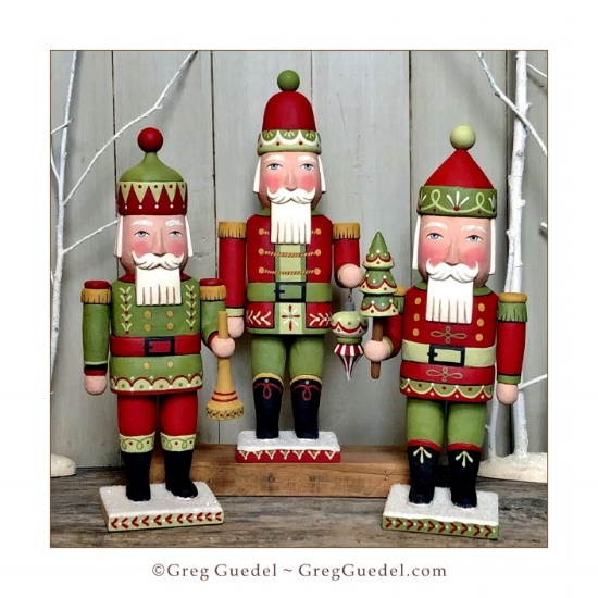 Nutcracker Santa wood carvings ~ Greg Guedel.JPG