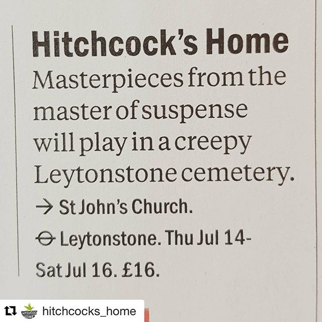 #Repost @hitchcocks_home  We're just 1 of @timeoutlondon reasons to visit #eastlondon this weekend! @e17designers @walthamgardenparty @leytonstonearts #chuffed #localfood  #localart #popup #hitchcock #lovelocal #summer
