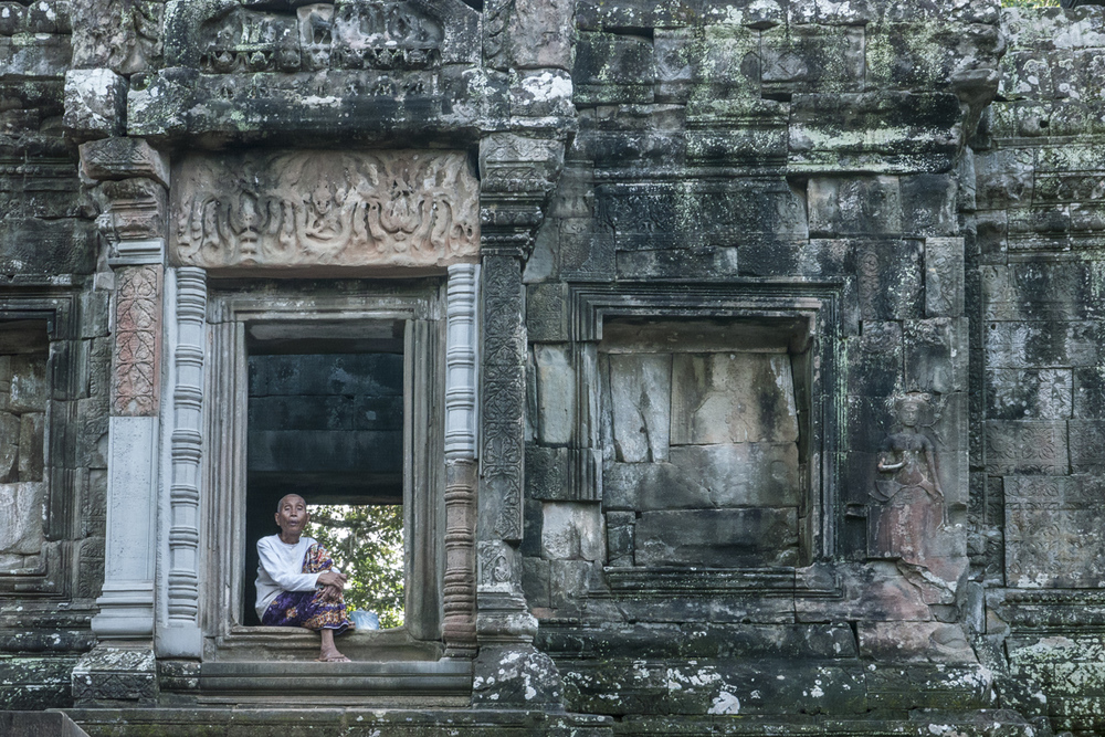 I saw her in Angkor Wat temple, Siem Reap, Cambodia.