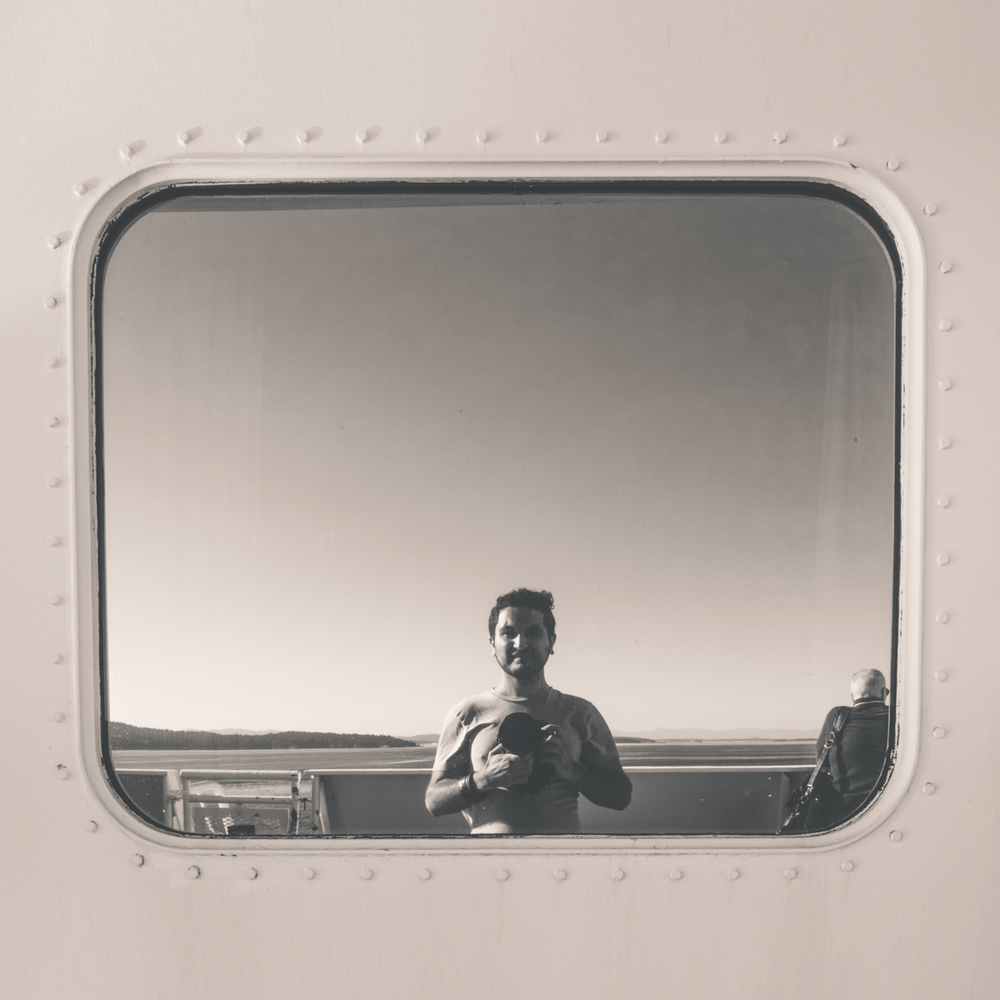 I saw myself on a boat, Victoria, Canada.