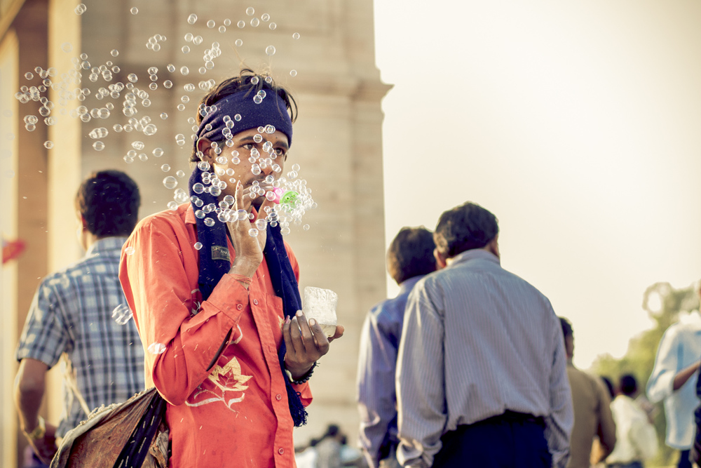 The Bubbleman of Delhi