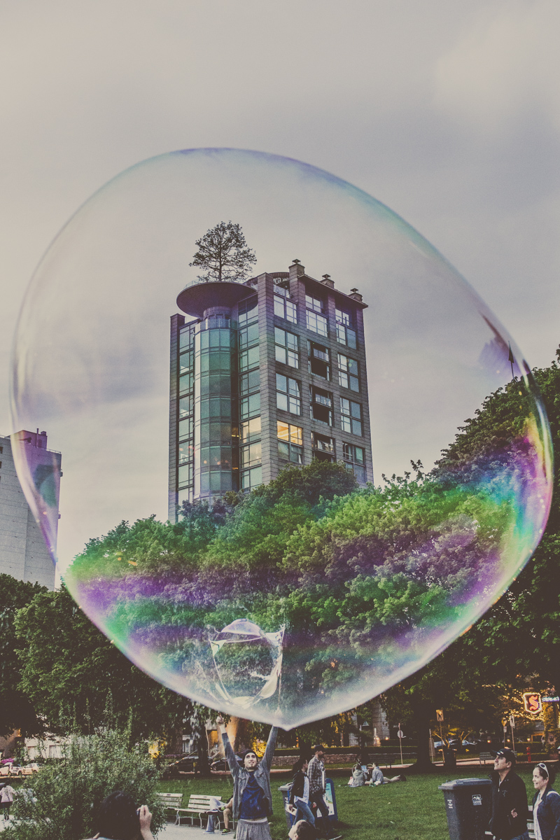 The Bubbleman of Vancouver