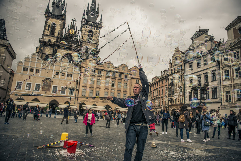 The Bubbleman of Prague