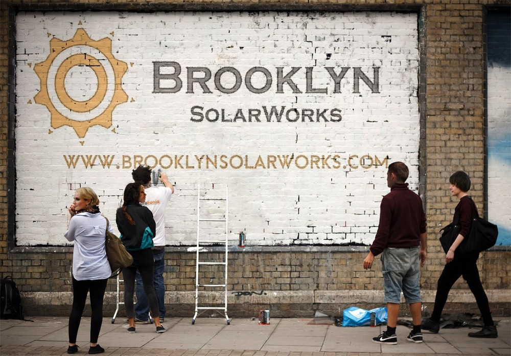 Take a picture next to the Brooklyn SolarWorks mural and win a free solar widget.