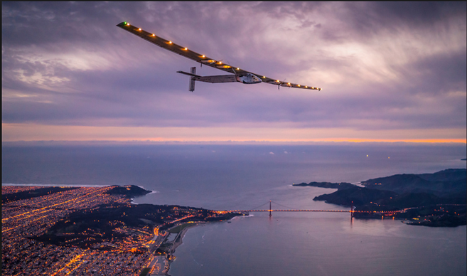 We're pretty psyched about solar, so you could imagine how excited we are that a solar powered plane is scheduled to fly across various parts of NYC tomorrow, 6/7, from 2 to 3am. The aircraft will enter near the Verrazano Bridge and travel northbound to the Statue of Liberty before turning east to travel over JFK Airport. We'll be watching out for it, but do let us know if you catch a glimpse or even get a picture of it too.