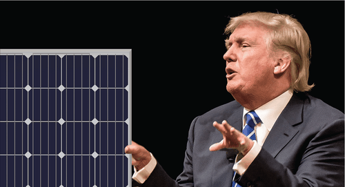 Trump could increase the price of solar with the wave of a pen on Nov. 13th