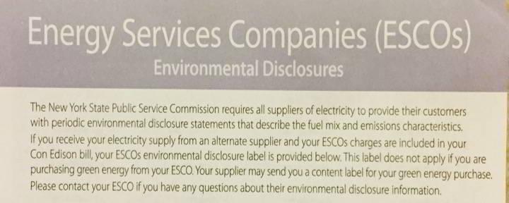 Environmental Disclosure Statement