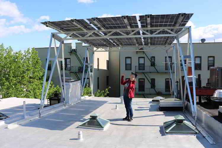 The Solar Canopy - This design makes it easy to get as much electricity from your rooftop as possible. Take advantage of the extra space on your rooftop and build over obstructions that would otherwise limit the amount of solar that you can put directly on the surface of your roof. Why not?