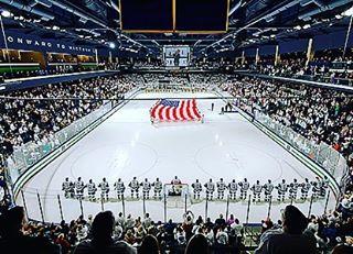 Just another amazing barn... #hockey #collegehockey #notredame #und #fightingirish #hockeylife