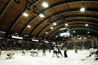 Another amazing college arena... #hockey #icehockey #collegehockey #vermont #icearena #rink #hockeylife