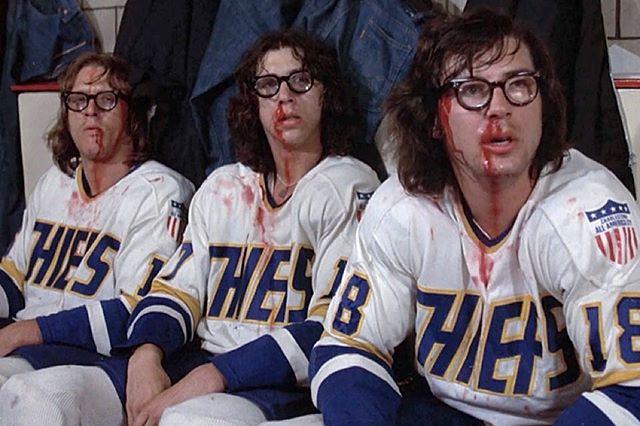Is this the best hockey movie of all time? . . #hockey #icehockey #hockeyteam #slapshot #chiefs #hansonbrothers #puttingonthefoil #hockeymovie #ogieogilthorpe #regdunlop