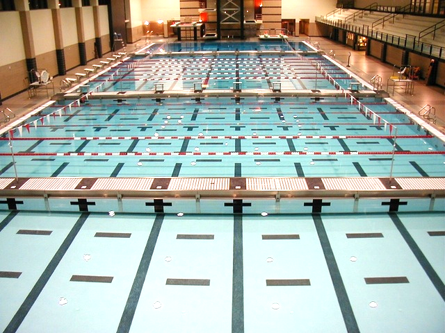 Newly Renovated University of Houston olympic pool