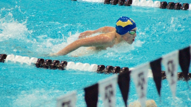 Travis broke the 11-12 boys record in the 50 back, 100 free and 100 IM. All 3 records had stood since 2010