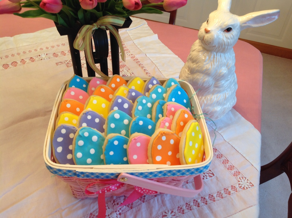 Polka Dot Easter Egg Sugar cookies